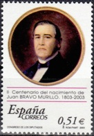 España 2003 Michel 3853 Neuf ** Cote (2008) 1.00 Euro Juan Bravo Murillo - 1931-Aujourd'hui: II. République - ....Juan Carlos I