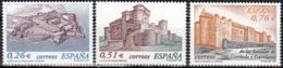 España 2003 Michel 3843 - 3845 Neuf ** Cote (2008) 3.00 Euro Châteaux De La Coruña, Segovia Et Córdoba - 1931-Aujourd'hui: II. République - ....Juan Carlos I