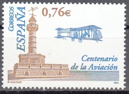 España 2003 Michel 3909 Neuf ** Cote (2008) 1.50 Euro 100 Ans Biplan Des Frères Wright - 1931-Aujourd'hui: II. République - ....Juan Carlos I
