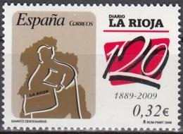 España 2009 100 Ans Journal La Rioja Neuf ** - 1931-Aujourd'hui: II. République - ....Juan Carlos I