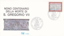 FDC, Vatican 1985: Papst Gregor VII 900. Todestag. Mi: 873 - Vatican