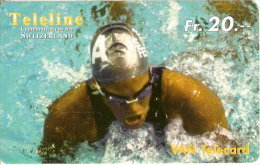Nº246 TARJETA DE TELELINE DE NATACION (SWIMMING) - Suiza