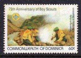 DOMINICA - 1982 BOY SCOUT ANNIVERSARY 60c STAMP FINE MNH ** SG826 - Dominica (1978-...)