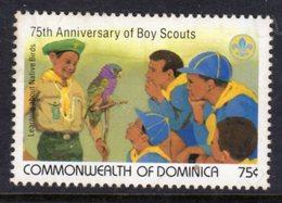 DOMINICA - 1982 BOY SCOUT ANNIVERSARY 75c STAMP FINE MNH ** SG827 - Dominica (1978-...)