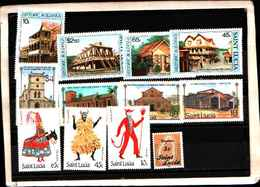 73302)  SANTA LUCIA-LOTTO FRANCOBOLLI -MNH**- - St.Lucia (1979-...)