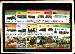 73303)  SANTA LUCIA-LOTTO FRANCOBOLLI -MNH**-LOCOMOTIVE - St.Lucia (1979-...)