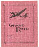 Protège Cahier Grand Raid Aviation Avec Emploi Du Temps, Table De Multiplication Et Carte De France (couleur Rose) - Protège-cahiers