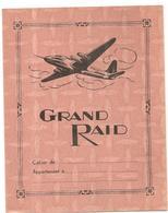 Protège Cahier Grand Raid Aviation Avec Emploi Du Temps, Table De Multiplication Et Carte De France (couleur Orange) - Protège-cahiers