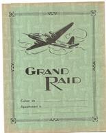 Protège Cahier Grand Raid Aviation Avec Emploi Du Temps, Table De Multiplication Et Carte De France (couleur Verte) - Protège-cahiers