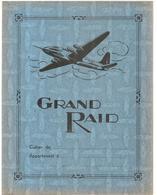 Protège Cahier Grand Raid Aviation Avec Emploi Du Temps, Table De Multiplication Et Carte De France (couleur Bleu) - Protège-cahiers
