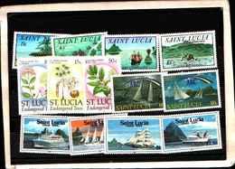 73304)  SANTA LUCIA-LOTTO FRANCOBOLLI -MNH**- - St.Lucia (1979-...)