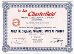 Ancienne Action - Les Bas Chesterfield - Anciens ETablissements G. G. BOMIER -Titre De 1960 - Textile