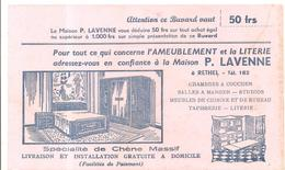 Buvard. Ameublement Et La Literie Maison P. LAVENNE à RETHEL (couleur Rose) - Blotters
