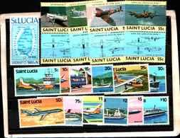 73305)  SANTA LUCIA-LOTTO FRANCOBOLLI -MNH**- - St.Lucia (1979-...)