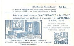 Buvard. Ameublement Et La Literie Maison P. LAVENNE à RETHEL (couleur Blanche) - Blotters