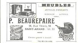 Buvard Meubles Articles D'enfants Rideaux Literie P. BEAUREPAIRE à Saint-Amand - Blotters