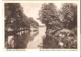 Gruß Aus Schwerin - Dampferfahrt  V. 1928  (AK113) - Schwerin