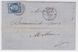 LSC - N°14 0BL. Cercle De Points PARIS 5 MARS 60 - Marcophilie (Lettres)