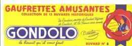Buvard GONDOLO Gaufrettes Amusantes Buvard N°8 - Sucreries & Gâteaux
