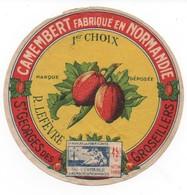 ETIQUETTES DE FROMAGE- Camembert R LEFEVRE St Georges Des Grosseillers - Formaggio