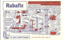 Buvard Rubafix Le Ruban Adhésif Français Construisez Cette Belle Machine à Couper Le Bois - Stationeries (flat Articles)