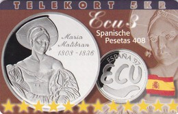 Denmark, P 230, Ecu - Spain, Mint, Only 800 Issued, 2 Scans.  Please Read - Denmark