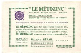 Buvard LE METOZINC Chez Maurice Hérail Couleurs & Vernis 7-15 Rue Du Rempart à Tours - Peintures