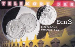 Denmark, P 258, Ecu - Belgium, Mint, Only 800 Issued, 2 Scans.  Please Read - Denmark