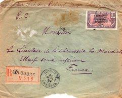 Cameroun  > Lettre Recommandée  N°72  LOLODORF 30 SEPT-1924 POUR ELBEUF - Lettres & Documents