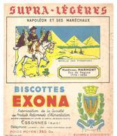 Buvard Biscottes EXONA Napoléon Et Ses Maréchaux Maréchal Marmont Duc De Rague 1774-1852 - Biscottes