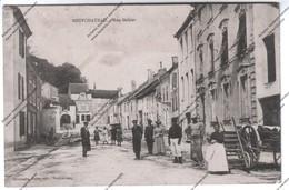 RARE CPA Animée NEUFCHATEAU (88) - Rue Gohier - Vue Sur Boucherie (soldat, Charrette, Paysans) - Neufchateau