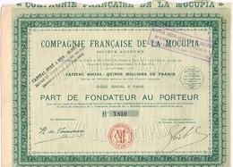 Ancienne Action - Compagnie Française De La Mocupia - Titre De 1926 - Venezuela - Mines