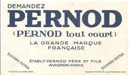 Buvard PERNOD Tout Court. Etablissements PERNOT Père Et Fils Avignon-Paris - Liqueur & Bière