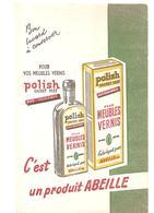 Buvard POLISH Cachet Vert Aux Silicones Pour Meubles Vernis C'est Un Produit ABEILLE - Wash & Clean