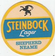 UNUSED BEERMAT - SHEPHERD NEAME BREWERY (FAVERSHAM, ENGLAND) - STEINBOCK LAGER - (Cat 076) - (1985) - Portavasos