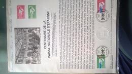 Centenaire De La Caisse Nationale D'épargne (1981). Document Philatélique Officiel De L'administration De La Poste - Errors And Oddities