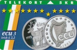 Denmark, TP 061B, ECU-Ireland, Mint, Only 2.200 Issued, Coins, 2 Scans. - Denmark
