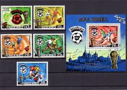 Korea-Nord, 1982, Michel 2099/03 Und Block 94, Gestempelt/°/stamped, Fußball-WM Spanien - Corée Du Nord