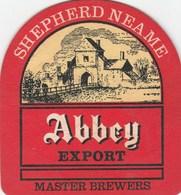 UNUSED BEERMAT - SHEPHERD NEAME BREWERY (FAVERSHAM, ENGLAND) - ABBEY EXPORT - (Cat 079) - (1987) - Portavasos