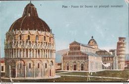 Italy , Pisa , Piazza Del Duomo Coi Principali Monumenti , Unused - Pisa