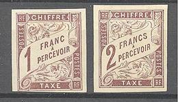 Colonies Générales: Yvert Taxe N° 15/16(*), Cote 100.00€; Voir Scan - Portomarken