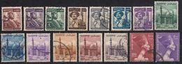 EGITTO - 1953/1956 - Lotto Di 15 Valori Usati: Yvert 311, 312, 314, 315a/324. - Egitto