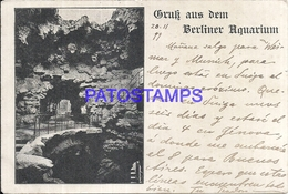 102749 GERMANY GRUSS AUS DEM BERLINER AQUARIUM CIRCULATED TO ARGENTINA POSTAL POSTCARD - Germany