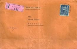"""Wertbrief  """"Ersparniskasse Wyssachen"""" - Eriswil             1947 - Cartas"""