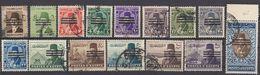 EGITTO - 1953 - Lotto Di 15 Valori Usati: Yvert 328, 329, 331, 333/343 E 345. - Egitto