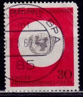 Germany, 1966, UNICEF, 30pf, Sc#967, Used - [7] Federal Republic