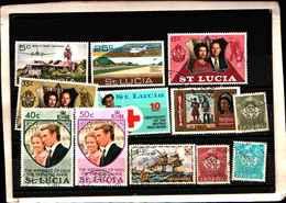73307)  SANTA LUCIA-LOTTO FRANCOBOLLI -USATI - St.Lucia (1979-...)