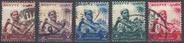 EGITTO - 1954/1955 - Serie Completa Usata : Yvert 365/368 Per Complessivi 5 Valori. - Egitto