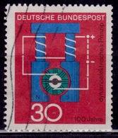 Germany, 1966, Siemens Dynamoelectric Principle, 30pf, Sc#966, Used - [7] Federal Republic