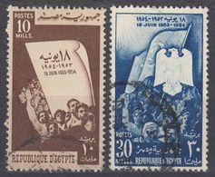 EGITTO - 1954 - Serie Completa Usata : Yvert 363/364 Per Complessivi 2 Valori. - Egitto